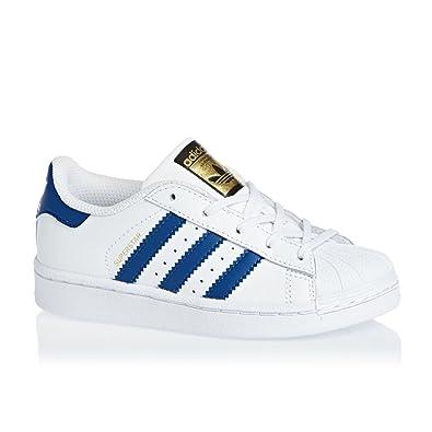 adidas Superstar Foundation, Sneakers Basses Mixte Enfant, Blanc (Footwear  White/Blue/
