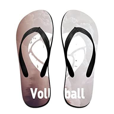 Unisex Non-slip Flip Flops Colorful Volleyball Cool Beach Slippers Sandal