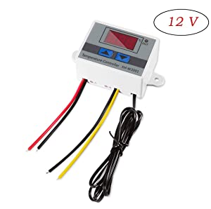 Digital LED Temperature Controller Module, XH-W3001 Thermostat Switch with Waterproof Probe, Programmable Heating Cooling Thermostat (12V 10A 120W)
