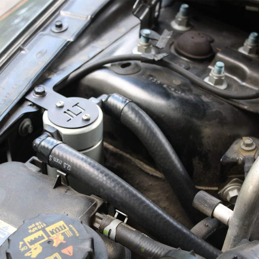 JLT Oil Separator 3.0 Passenger Side, Clear Anodized (Satin) (2010-15 Taurus SHO EcoBoost V6) JLT Performance