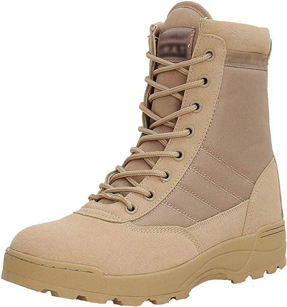 QIKAI Bottes Tactiques Hommes Fan De L'armée Chaussures De