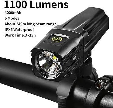 1000 lúmenes USB Bicicleta luz de la Linterna Frontal Ultra ...