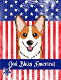 Cheap Caroline's Treasures BB2184GF God Bless American Flag with Red Corgi Garden Flag, Small, Multicolor