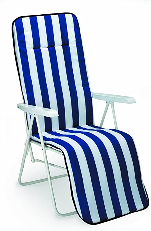 BEST 34306802 Silla de jardín - sillas de jardín (Salón, Sólido, Asiento Acolchado, 2 cm) Azul, Color Blanco: Amazon.es: Jardín