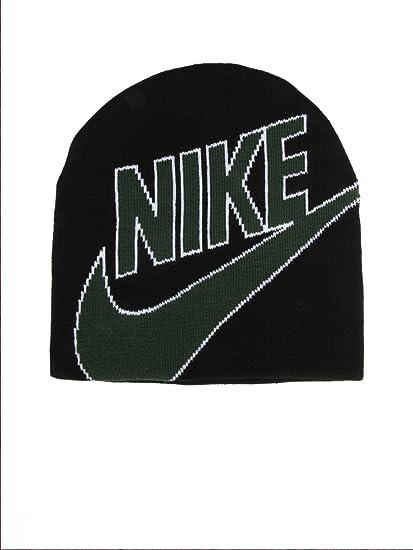 Amazon.com: Nike Men's Knit Beanie Hat Skull Cap Black and ...