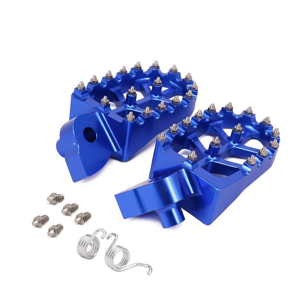 AnXin Pied de Pied P/édales Repose-Pieds CNC pour Moto Yamaha YZ85 YZ125 YZ250 YZF WRF 250 426 450 YZ 125X 250F 250FX 450FX