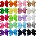 "QingHan Baby Girls 4.5"" 6"" Grosgrain Ribbon Boutique Hair bows Larger Alligator Clips For Teens Kids"