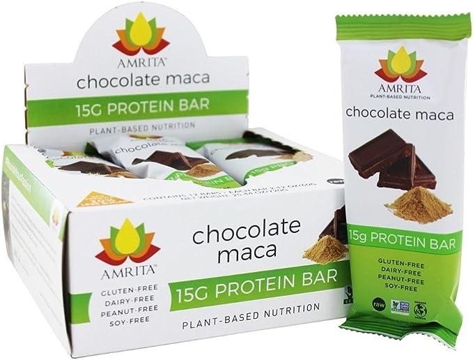 Amrita Health Foods Barras de Proteína de alta sin gluten con la proteína de 15 g por Paleo Bar, lleno de hierro calcio y vitaminas A y D, azúcar, no ...