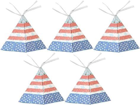 Amazon.es: Amosfun 50 Unids Boda Cajas de Dulces Triángulo Pirámide Cajas de Regalo Bandera Americana Favores de Fiesta Cajas para el 4 de Julio Día de la Independencia Tema Fuentes del Partido: