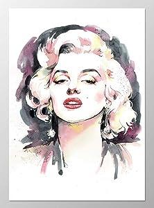 11x14 Marilyn Monroe poster #A095. Marilyn Monroe art print. Marilyn Monroe wall art. Marilyn Monroe picture.Poster of marilyn monroe.Pink wall art.Pink decor.Watercolor painting