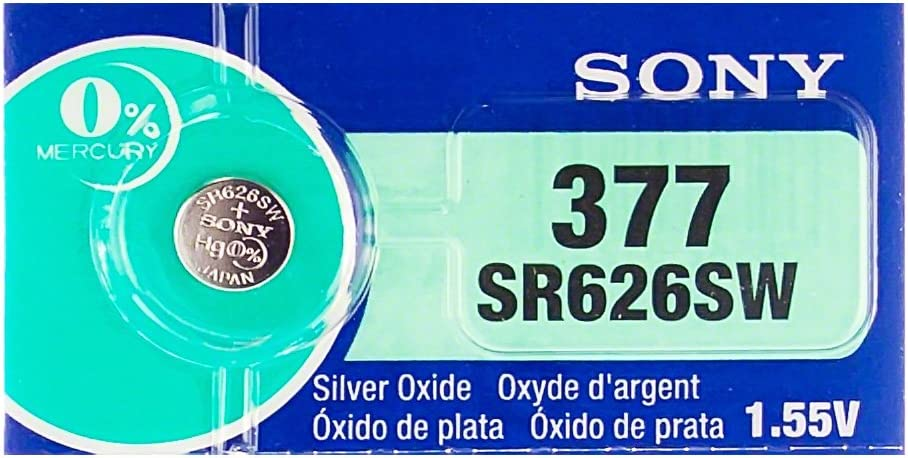 1 Box of 100 Sony 1.55v Silver Oxide Watch Batteries 377 SR626SW
