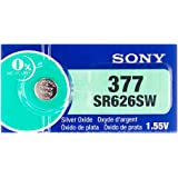 [ソニー] SONY SR626SW 377 時計用 逆輸入ボタン電池 1シート (5個入り)