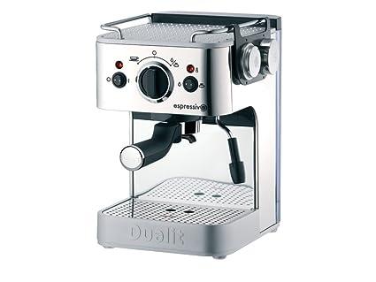 Dualit 3 In 1 Espressivo Coffee Machine 15 Litre 1250 Watt 15 Bar Polished Stainless Steel Dcm2x