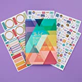 Erin Condren Designer Petite Planner with Extra Functional and Decorative Sticker Packs - Budget Book Edition 2 Bundle to Track Spending and Monthly Bills