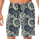 Haixia Man Summer Boardshorts Grunge Wood Pattern Nature Inspirations Circles