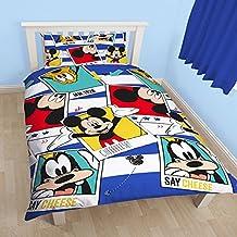 Disney Mickey Mouse Childrens/Kids Polaroid Reversible Single Duvet Cover Bedding Set (Twin) (Multicoloured)
