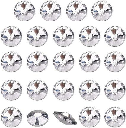 10 x bottoni di diamante per unghie per divano testiera TAPPEZZERIA ARREDAMENTO 18MM x 22MM