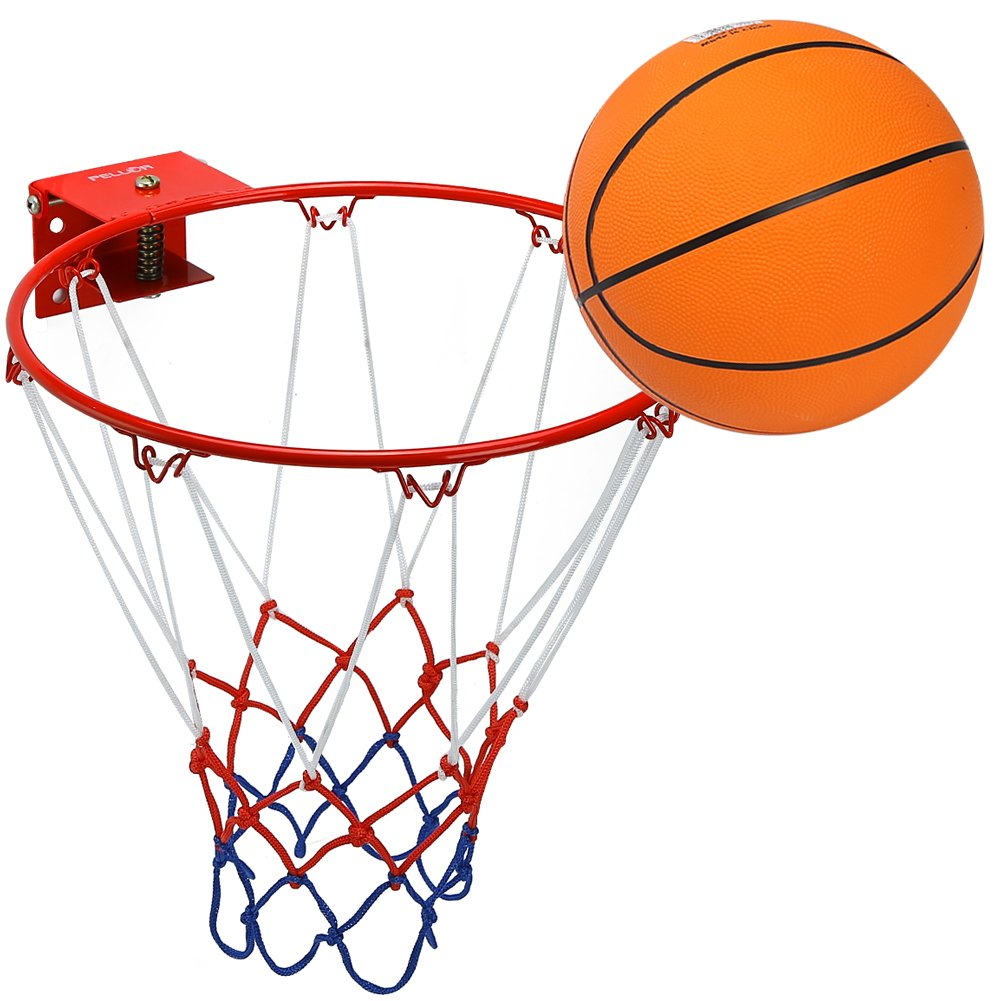 Pellor Anillo de Aro Sólido de Baloncesto con Baloncesto de Goma y