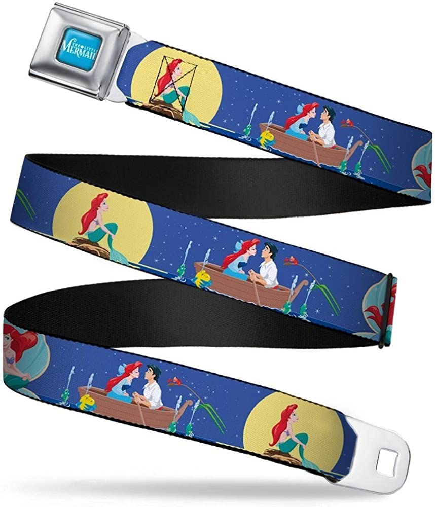 The Little Mermaid Ariel Poses//Under the Sea Scene3-1.5 Wide Buckle-Down Seatbelt Belt 24-38 Inches in Length