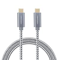 Type USB C-C Cable, CableCreation 10ft Braided USB 2.0 Type C (USB-C) to Type C Data Charging Cable(3A) for Apple Macbook(Pro), Nintendo Switch, Surface Pro, Galaxy S9/ S9+, etc (Space Gray)