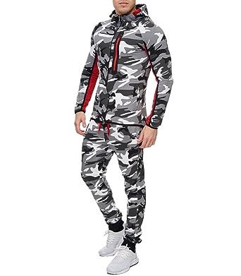 d2a1c1a19039 MonsieurMode - Survêtement Camouflage Fashion Homme Survet 886 Blanc Camo -  M - Blanc
