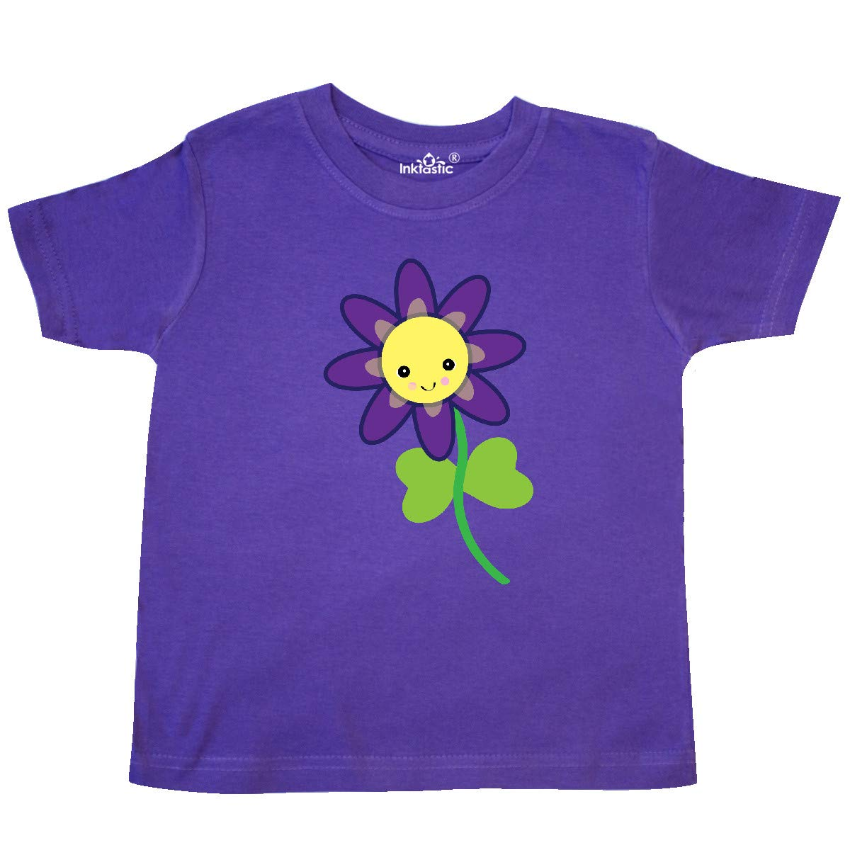 inktastic Cute Kawaii Purple and Yellow Flower Toddler T-Shirt