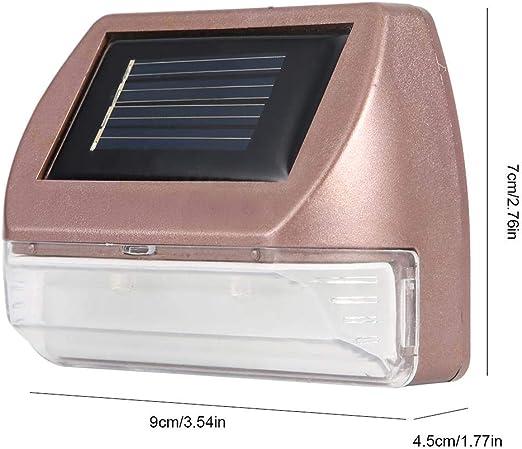 Mumusuki Focos solares, Ambiente al Aire Libre Impermeable energía Solar lámpara de Pared 2 LED jardín decoración de Pared luz: Amazon.es: Jardín