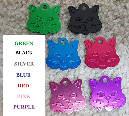 61Jho7KFjML - Vet Recommended Pet ID Tag Dog and Cat Personalized | Many Shapes and Colors to Choose From! | MADE IN USA, Strong Anodized Aluminum