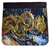 arts sunflower seeds - Rikki Knight Van Gogh Art Four Sunflowers gone to Seed Additional FLAP for Premium UKBK BackPack - FLAP ONLY