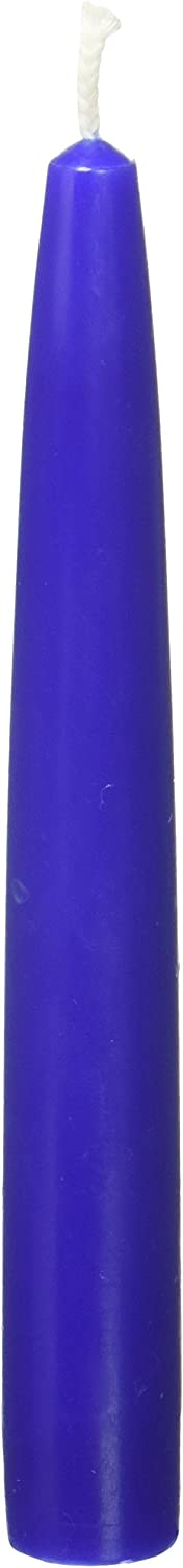 Zest Candle 12-Piece Taper Candles, 6-Inch, Blue