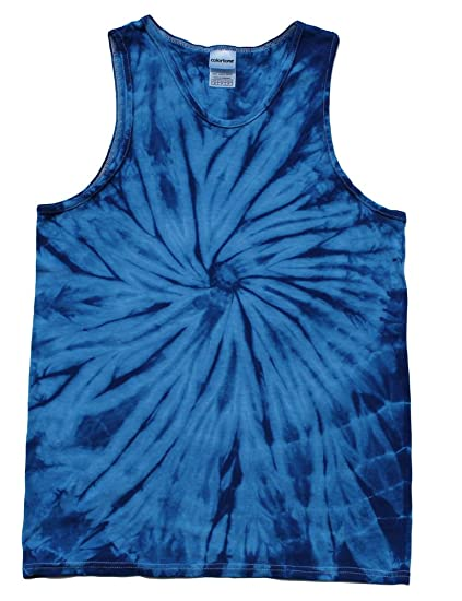 c9ba9aa1eb251 Tie Dye Tank Tops Blue Adult Small - 3X Cotton at Amazon Men s ...