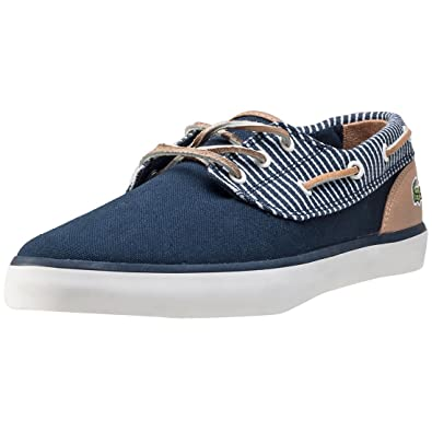 b610d3bed Lacoste Jouer Deck Navy Stripe - 11 UK  Amazon.co.uk  Shoes   Bags