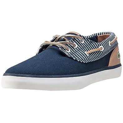 472408a07 Lacoste Jouer Deck Navy Stripe - 11 UK  Amazon.co.uk  Shoes   Bags