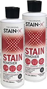 Stain-X Cleaner | Effective Stain Remover for Laundry, Carpet, Clothing, Upholstery and Other Washable Fabrics (8 oz, 2-Pack)