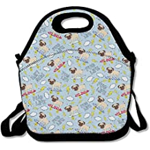 Pug Life Skating Insulated Lunch Bag Picnic Lunch Tote For Work, Picnic, Travelling
