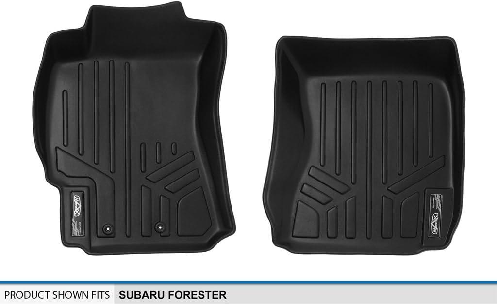 MAXLINER Floor Mats 1st Row Liner Set Black for 2009-2013 Subaru Forester
