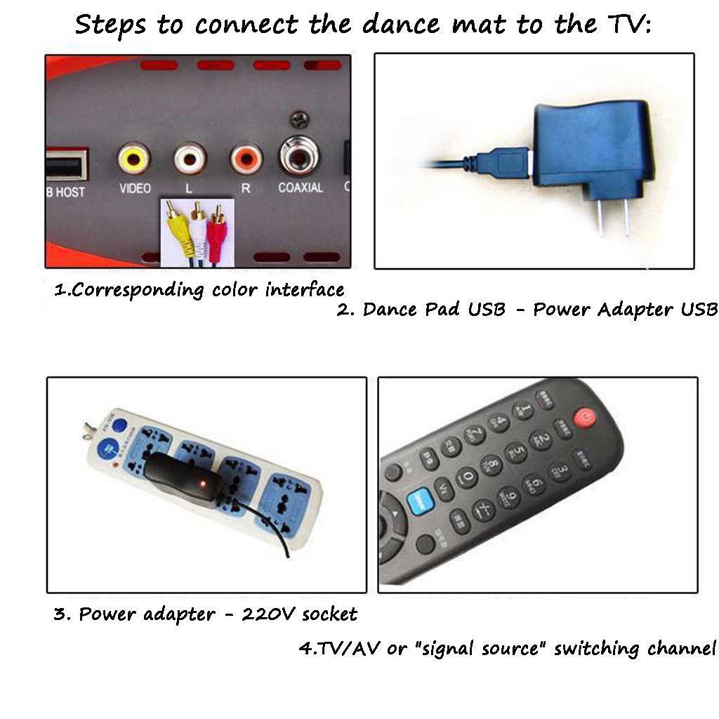 National style carpet Double Cool Sports Dance Machine TV USB Computer Dual-use Multi-function Weight Loss Dance Machine by National style carpet (Image #5)