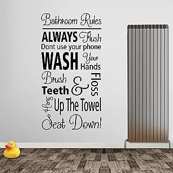 Vinilo adhesivo decorativo para pared de cuarto de baño, diseño de ...