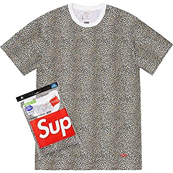 Supremenewyork Supreme Hanes Tagless Tee T Shirt Leopard 2 Pack Ss19 100 Authentic Real