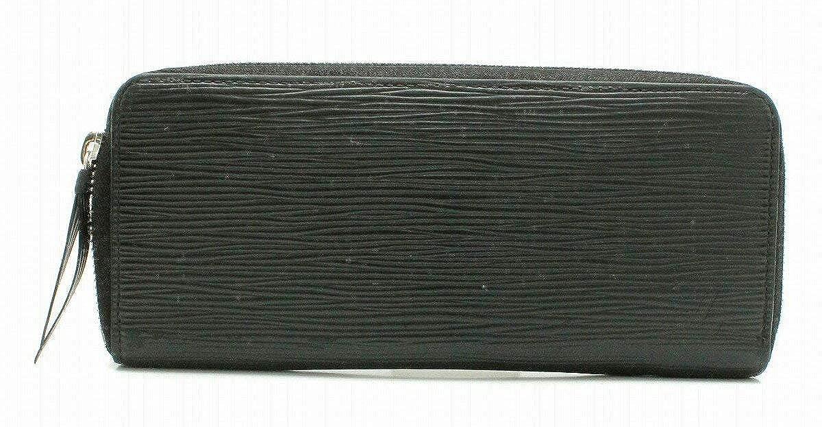 [ルイ ヴィトン] LOUIS VUITTON エピ ポルトフォイユ クレマンス ラウンドファスナー 長財布 レザー ノワール ブラック 黒 M60915 B07D8G75B3
