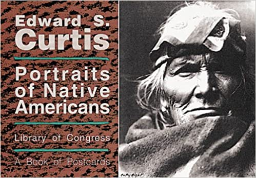 edward s curtis portraits of native americans postcard books