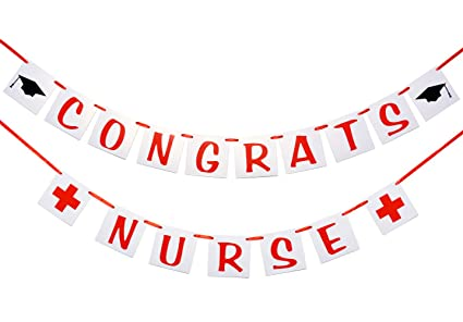 amazon com congrats nurse banner nurse graduation decor rn