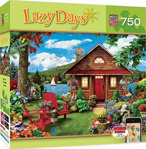 MasterPieces Lazy Days Waterfront - Lakeside Cottage 750 Piece Jigsaw Puzzle by Alan Giana (Waterfront Cottage)