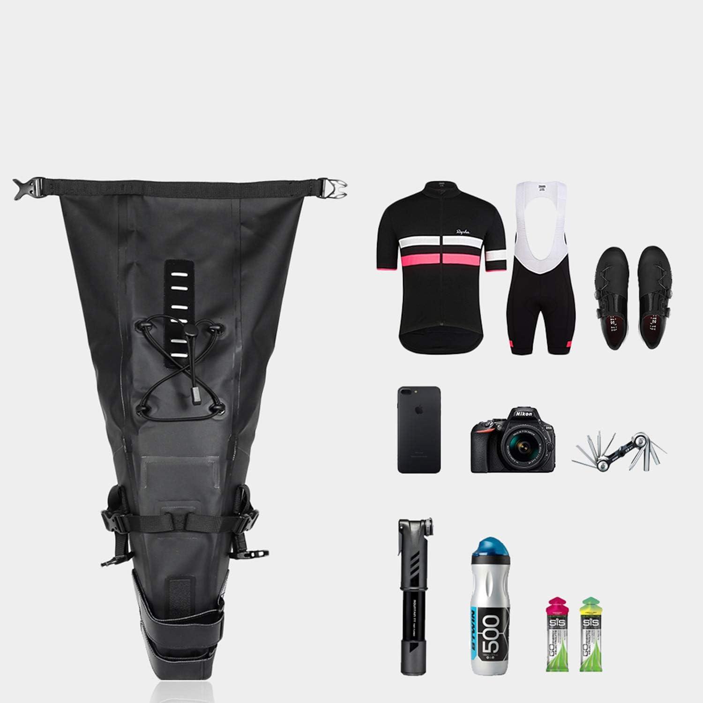 Road Bike WILDKEN Bike Saddle Bag Waterproof Cycling Under Seat Bag Bicycle Tail Bags for MTB Folding Bike