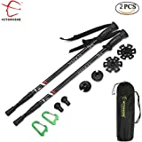 HITORHIKE Walking Sticks, Lightweight, 6061 Aluminum,7075 Aluminum,Carbon Fiber Hiking, Trekking Poles with Quick Locks, 4 Season / All Terrain Accessories and Carry Bag