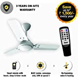 Gorilla Energy Saving 5 Star Rated 900 Mm Ceiling Fan With Remote Control And Bldc Motor- White