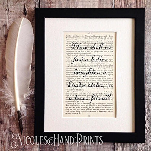 thoughtful gifts for sister meaningful christmas gifts jane austen book print thoughtful gifts