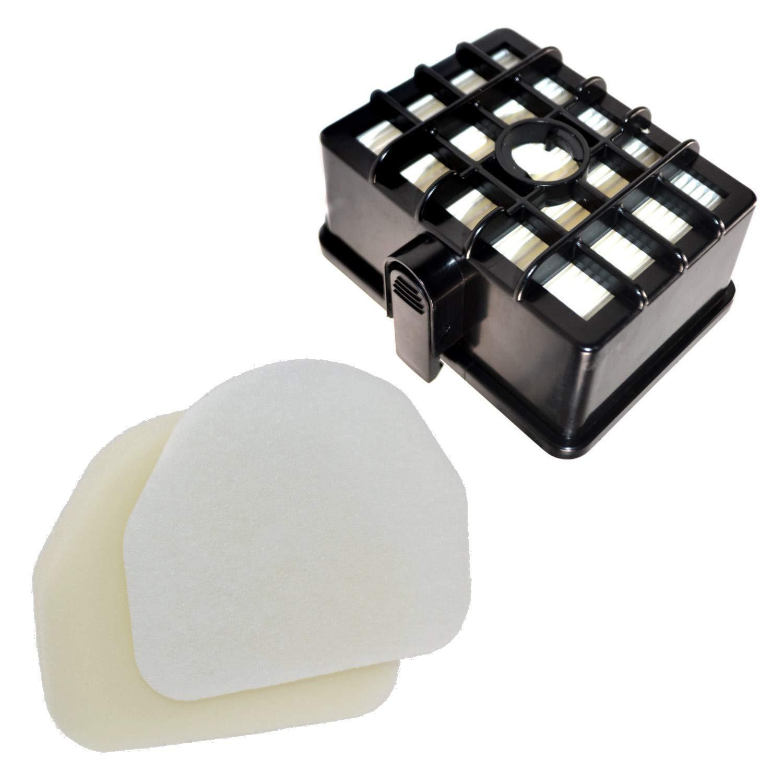 "HQRP Filter Kit Works with Shark Rotator NV450 NV451 / Rocket NV472 NV480 NV480_26 NV481 NV482 NV484 Professional Upright Vacuum Cleaner, XHF450 XFF450 Replacement (Short Size 2.36"")"