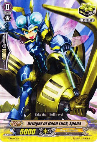 Cardfight!! Vanguard TCG - Bringer of Good Luck, Epona (TD01/013EN) - Trial Deck 1: Blaster Blade