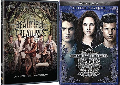 The Twilight Saga: Extended Edition Triple Feature New Moon / Eclipse DVD +Beautiful Creatures - 4 Disc collection